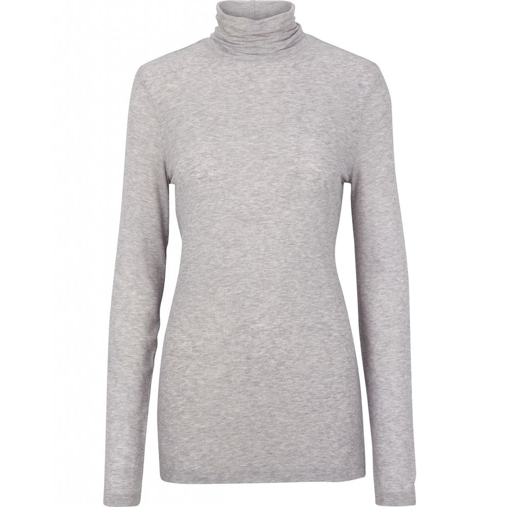 Bruuns Bazaar Women Angela Roll neck T-shirts Light grey Porpoise