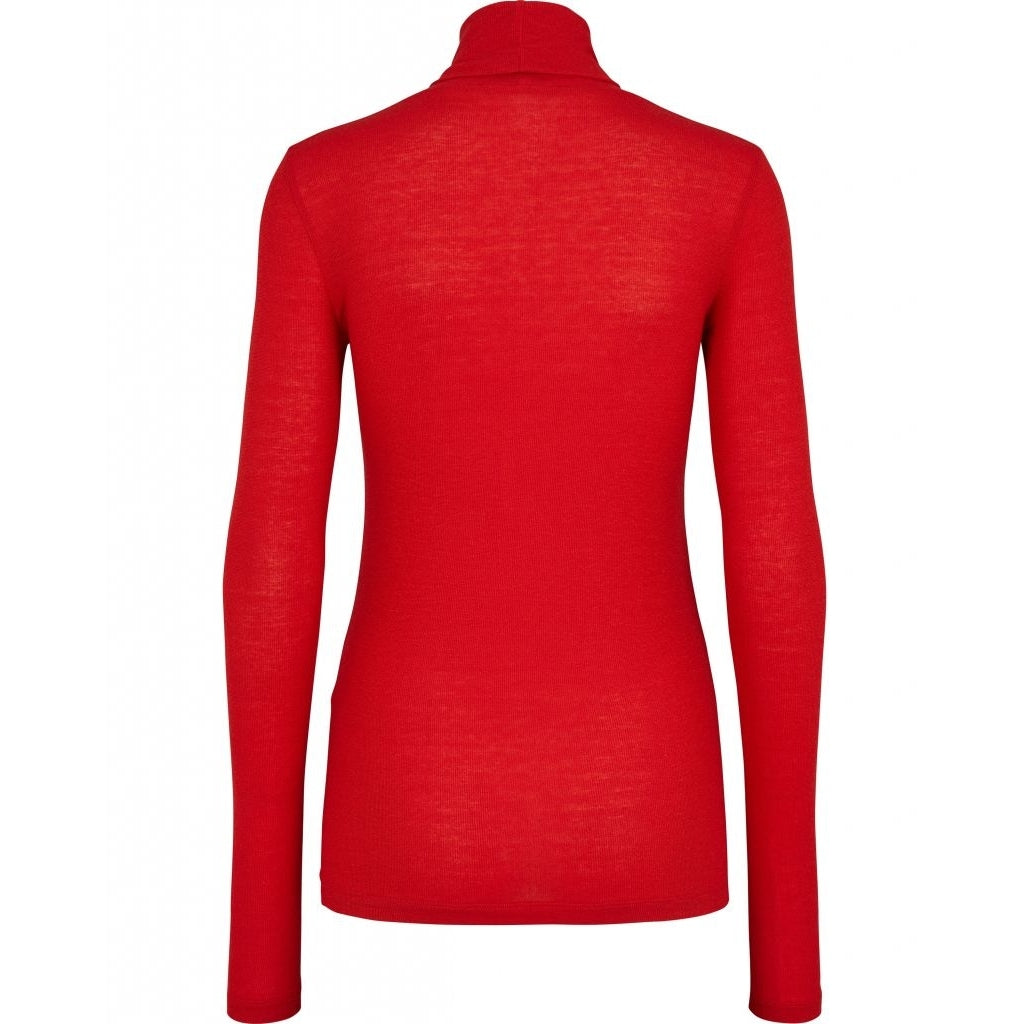 Bruuns Bazaar Women Angela Roll neck T-shirts Scarlett red