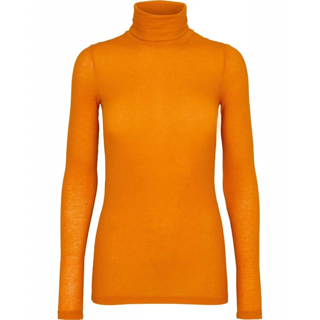Bruuns Bazaar Women Angela Roll neck T-shirts Smoking Orange