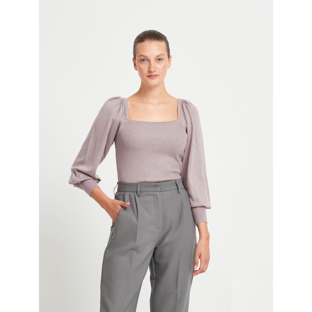 Bruuns Bazaar Women Barberry Elie knit Knit Dusty Violet
