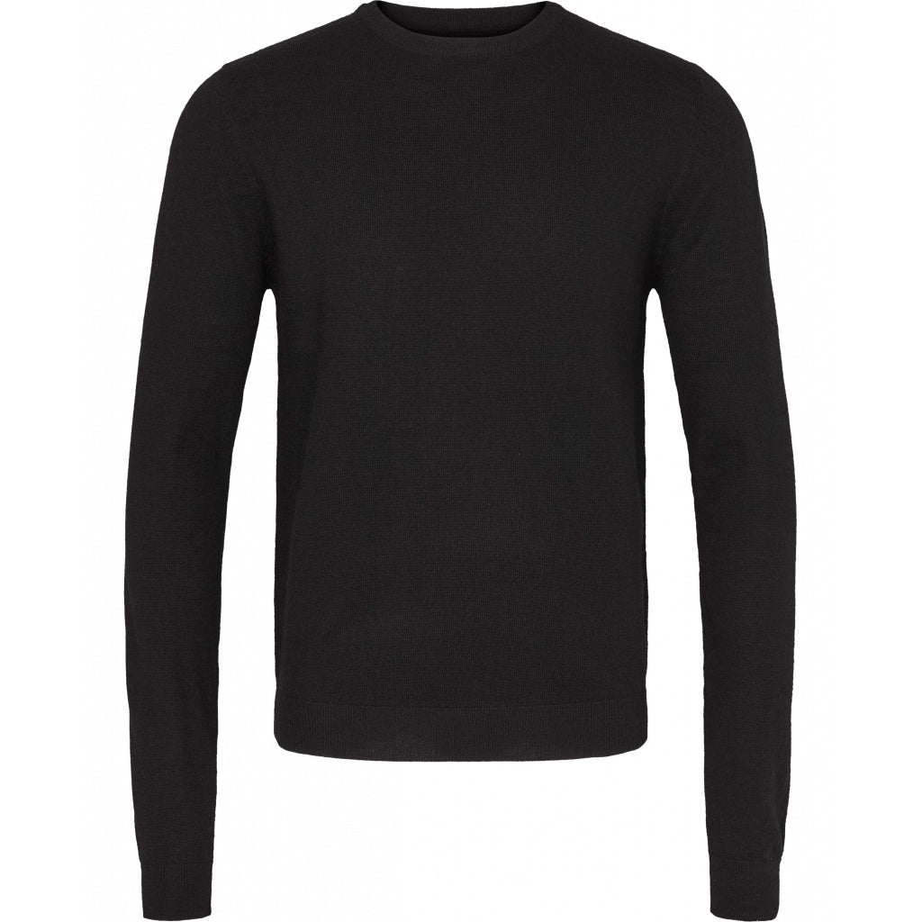 Bruuns Bazaar Men Charles Crew Neck Knit Black