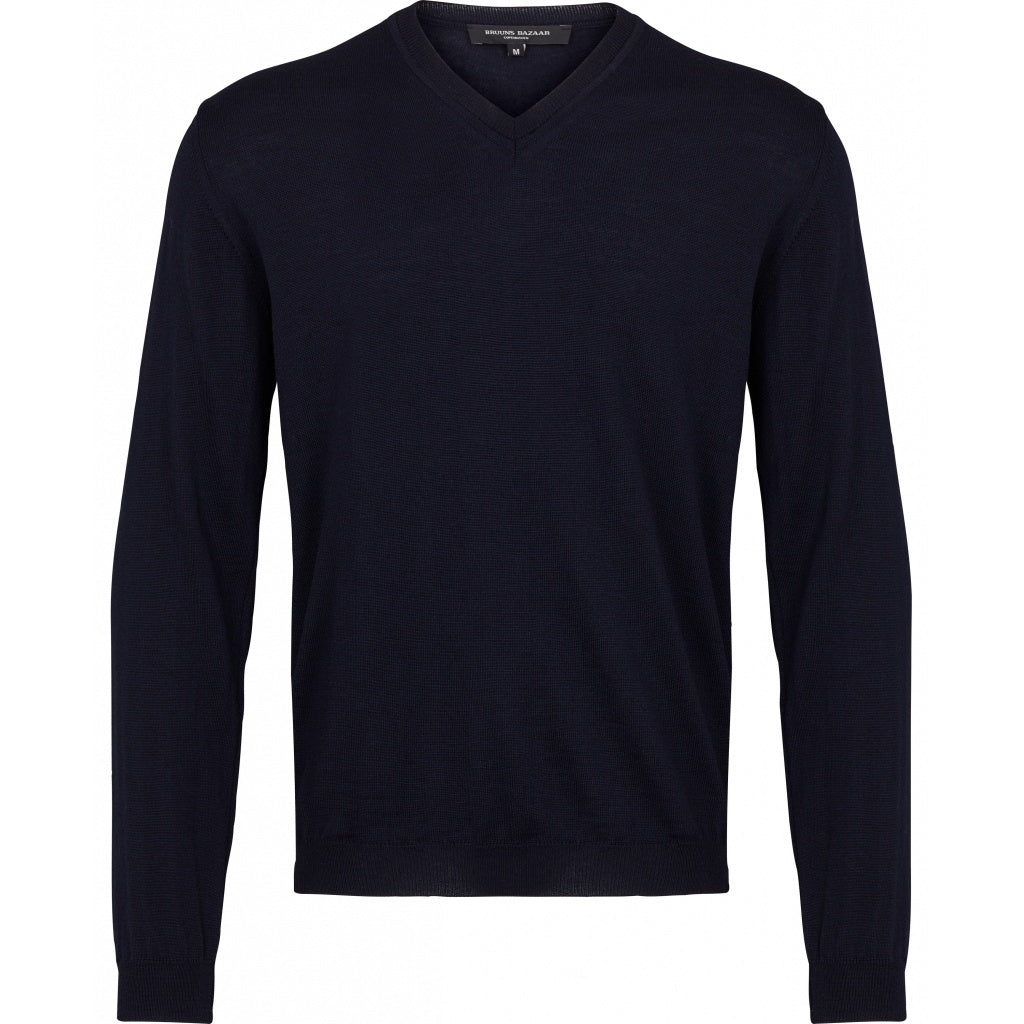 Bruuns Bazaar Men Charles V-neck Knit Black
