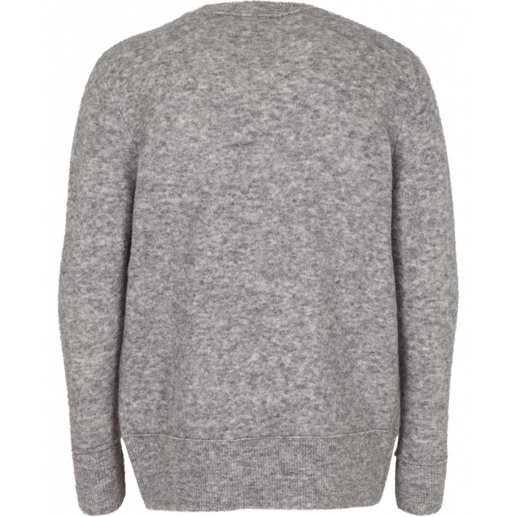 Bruuns Bazaar Men Chris Crew Neck Knit Light grey mel