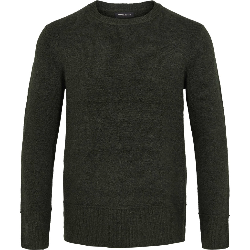 Bruuns Bazaar Men Chris Crew Neck Knit Sage Green