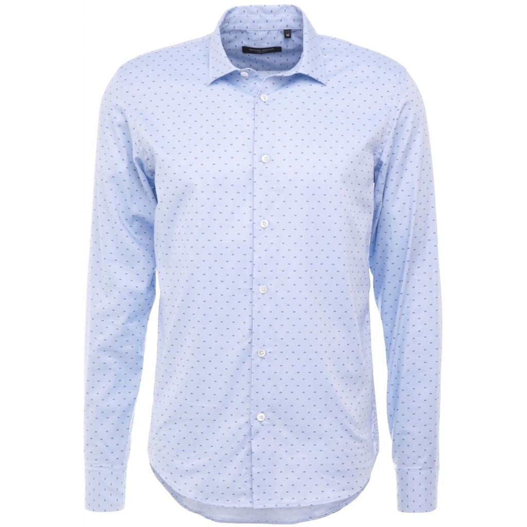 Bruuns Bazaar Men Ethan shirt Shirts Light blue with blue print