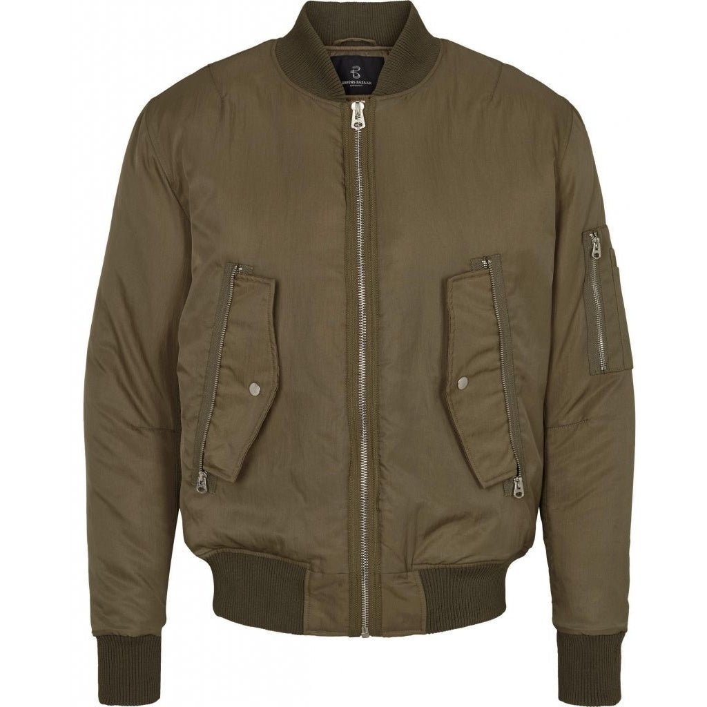 Bruuns Bazaar Men Hero bomber Bomber Burnt Olive
