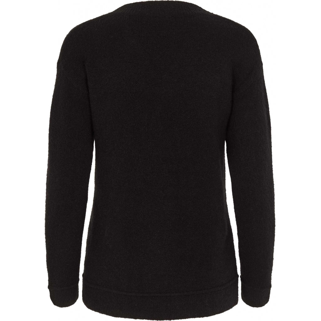 Bruuns Bazaar Women Holly Aura v-neck Knit Black