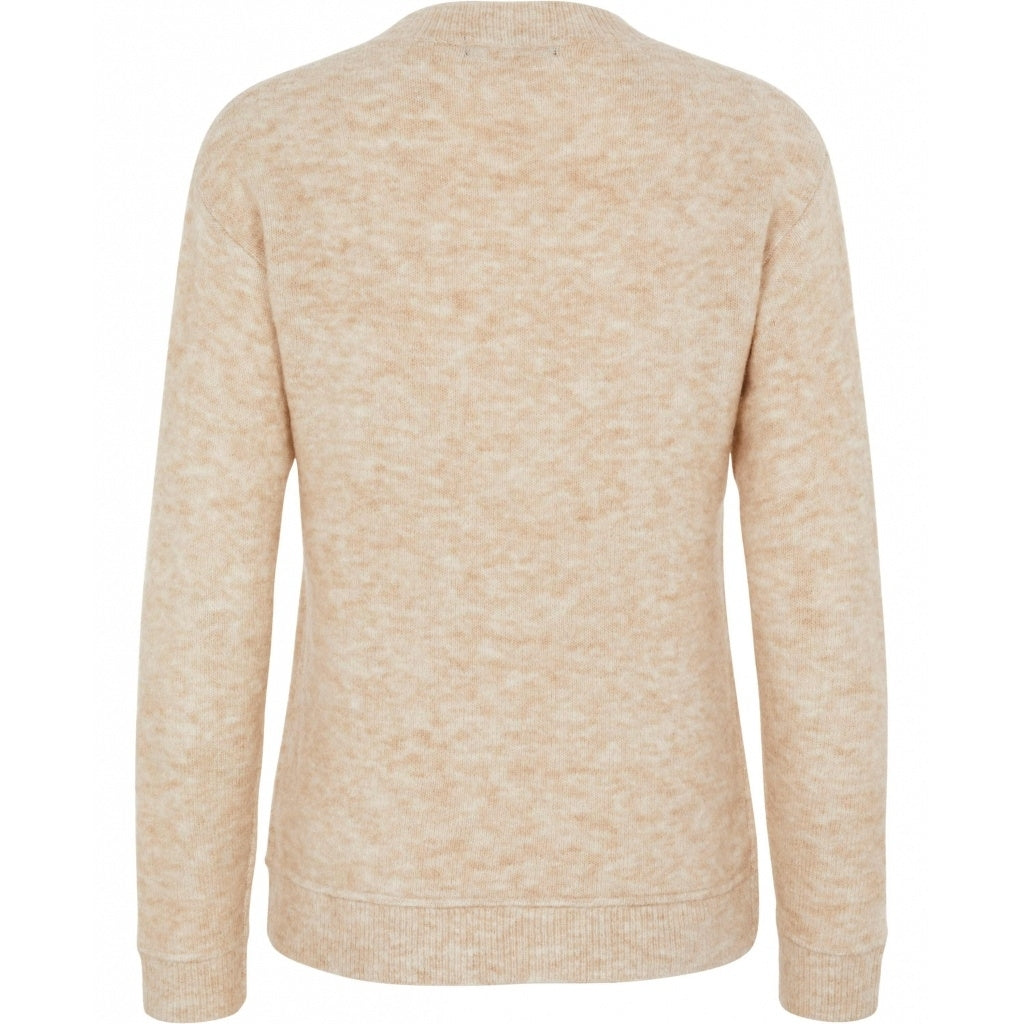 Bruuns Bazaar Women Holly Aura v-neck Knit Light Sand
