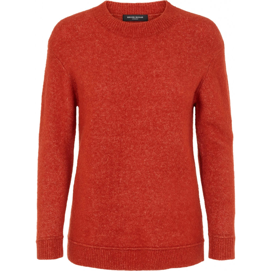 Bruuns Bazaar Women Holly Johanne Pullover Knit Brick Red