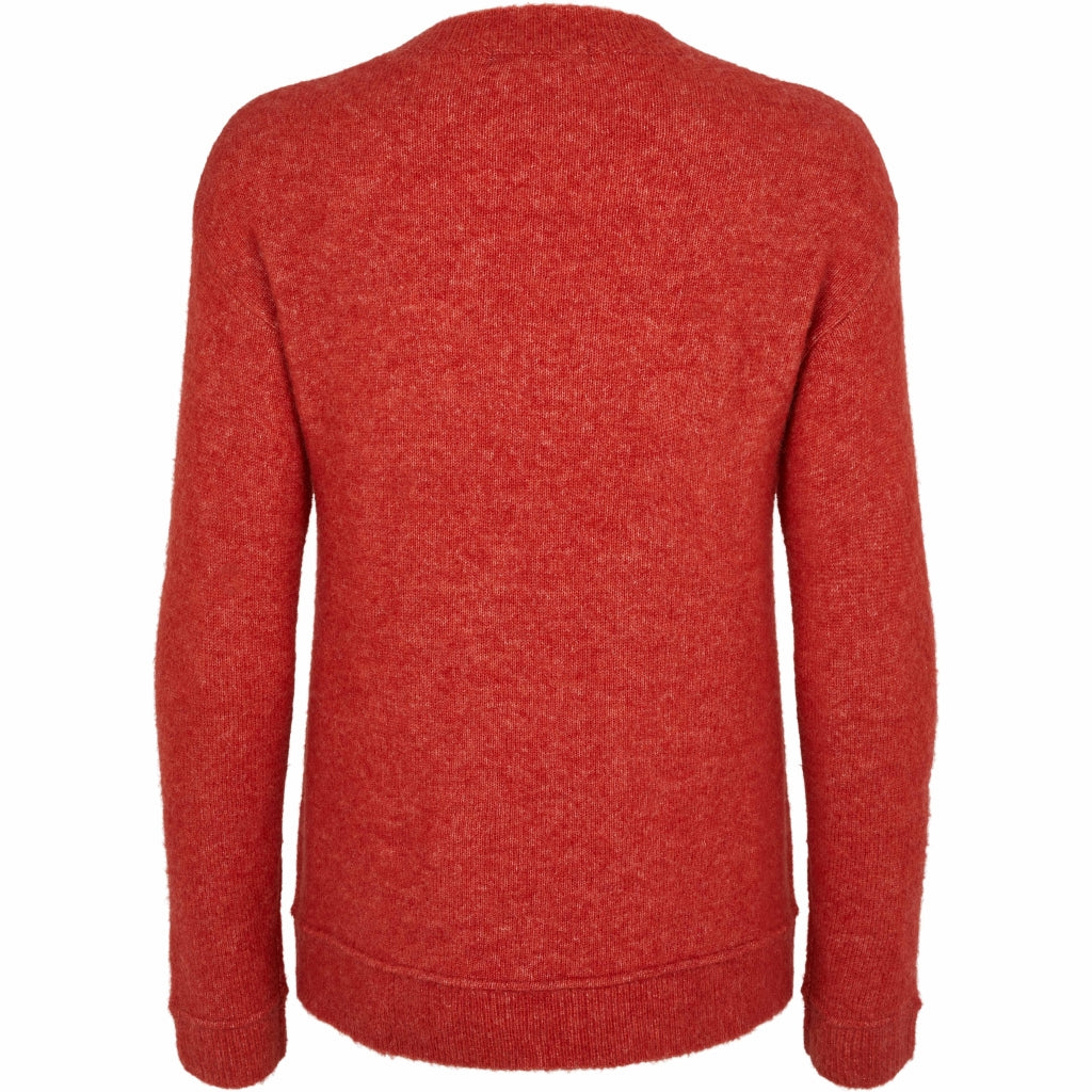 Bruuns Bazaar Women Holly Johanne Pullover Knit Poppy Red