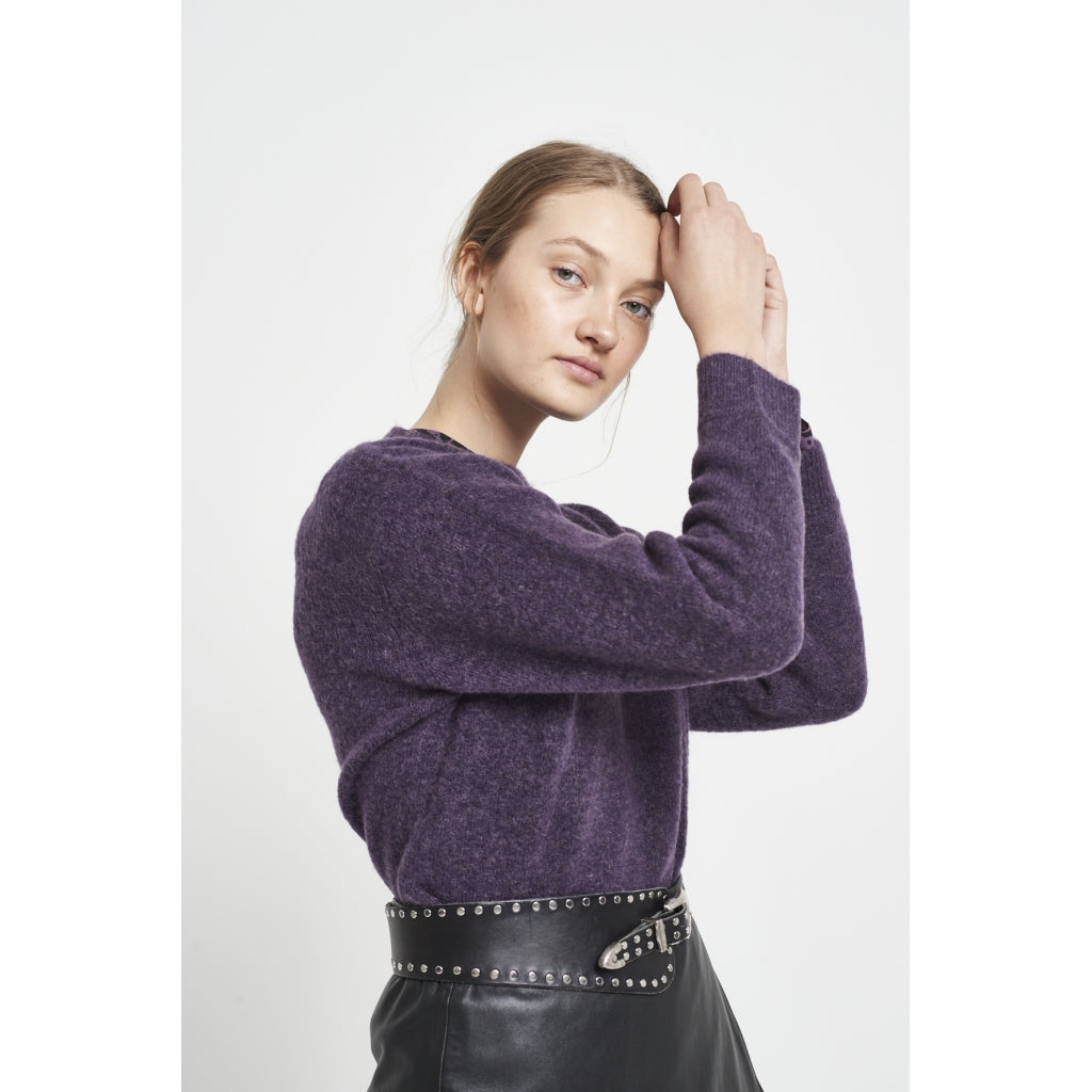 Bruuns Bazaar Women Holly Johanne Pullover Knit Purple Sky
