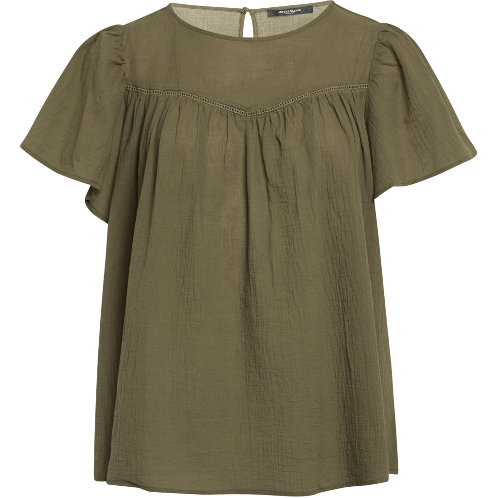 Bruuns Bazaar Women Kathis Bellis top Tops Olive Green