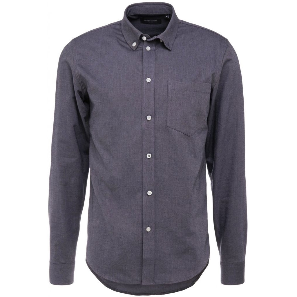 Bruuns Bazaar Men Liam shirt Shirts Dark grey mel