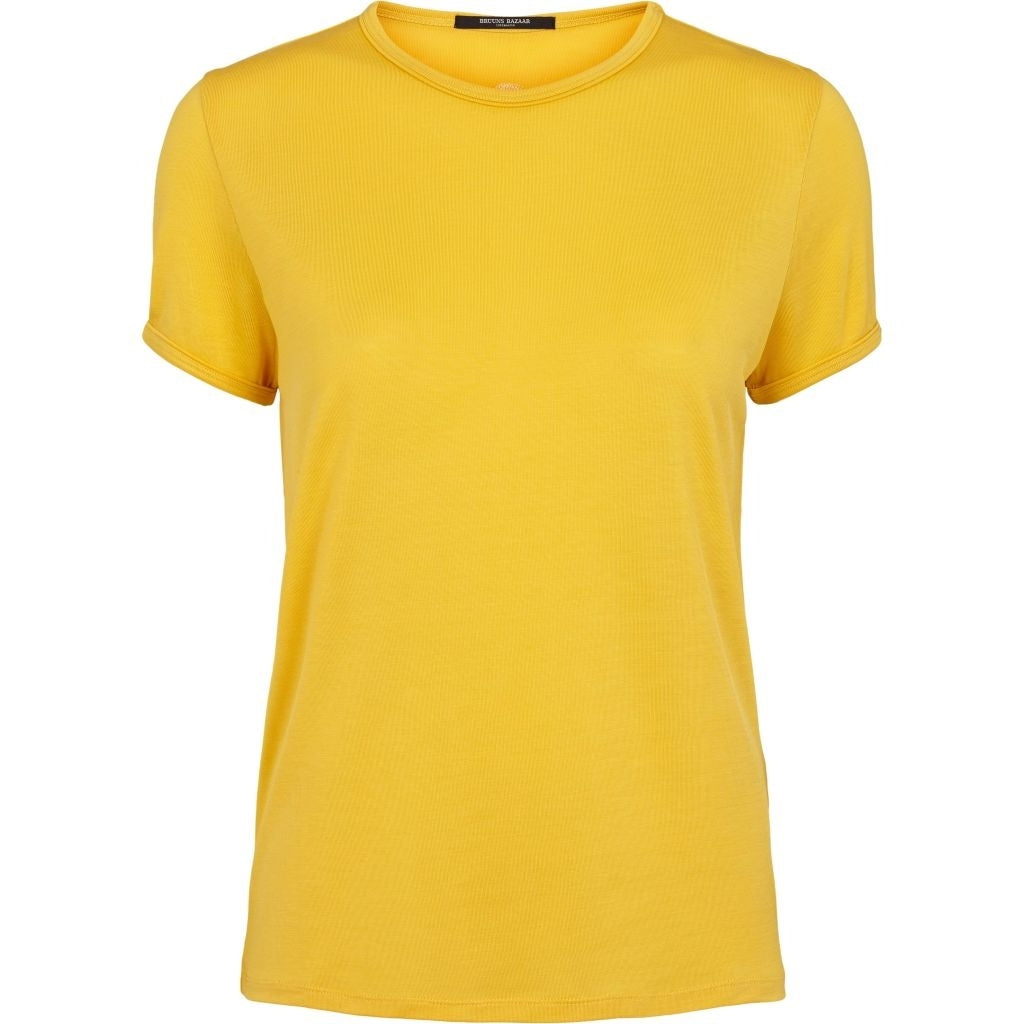 Bruuns Bazaar Women Molly Perla Tee T-shirts Peachy Yellow