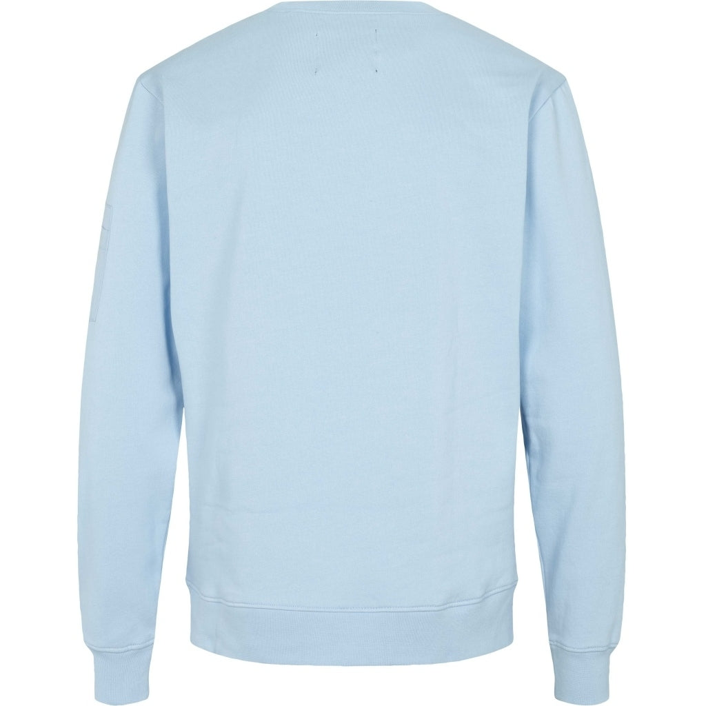Bruuns Bazaar Men Paul Clifford crew neck sweat Sweatshirt Ice