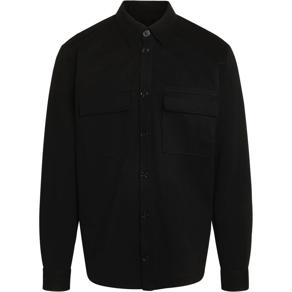 Bruuns Bazaar Men Politan shirt jacket Jacket Black