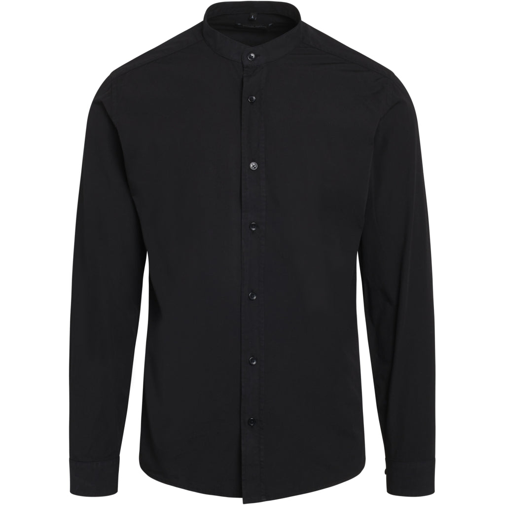 Bruuns Bazaar Men Ralf washed shirt Shirts Black