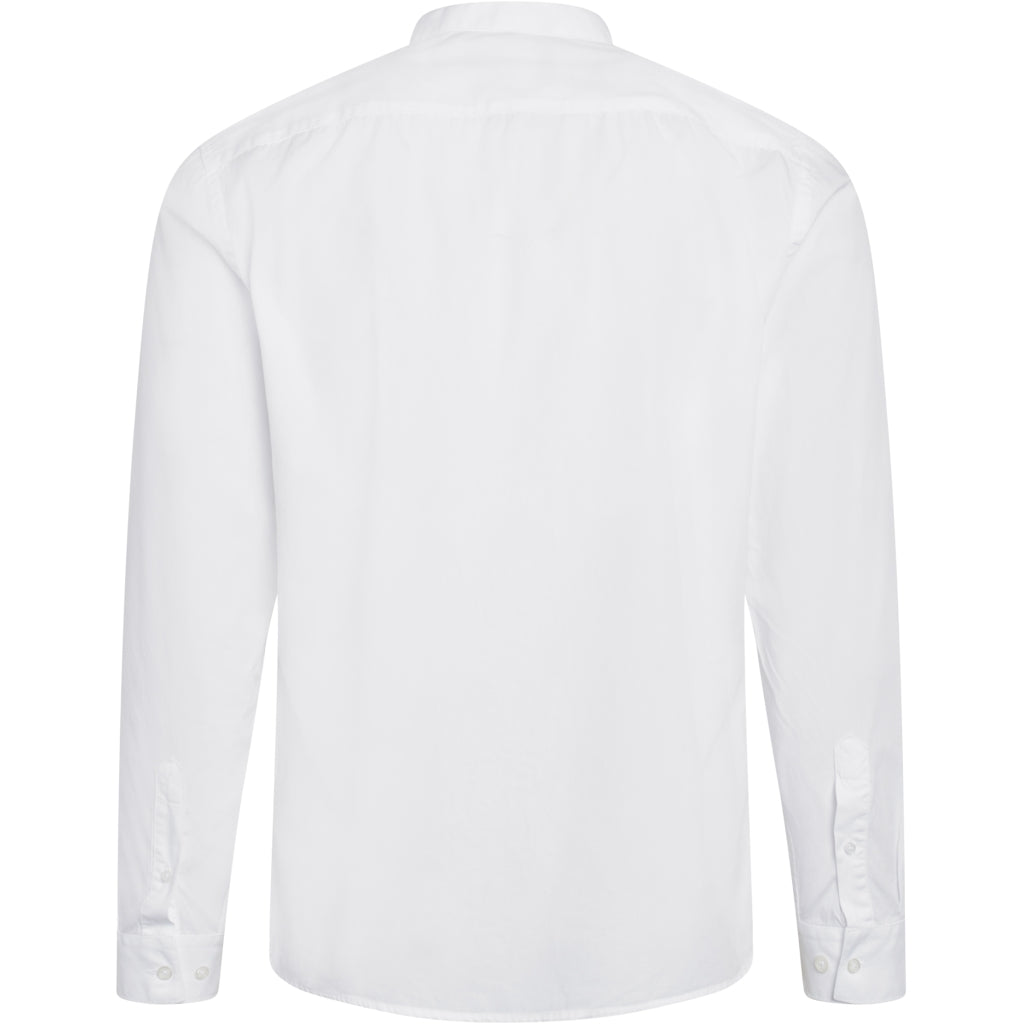 Bruuns Bazaar Men Ralf washed shirt Shirts White