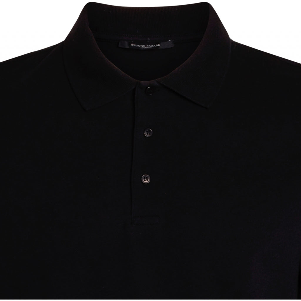 Bruuns Bazaar Men Raul Gonzales polo shirt T-shirts Men Black