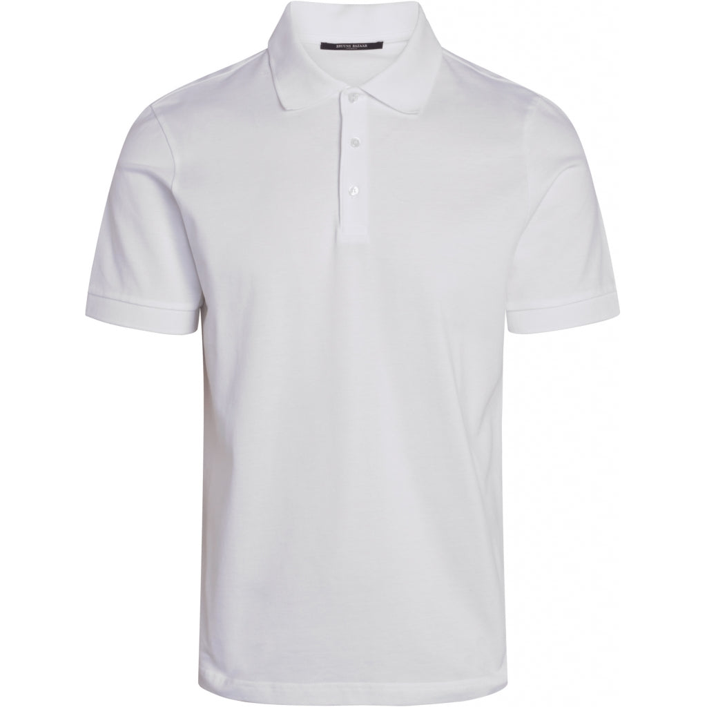 Bruuns Bazaar Men Raul Gonzales polo shirt T-shirts Men White