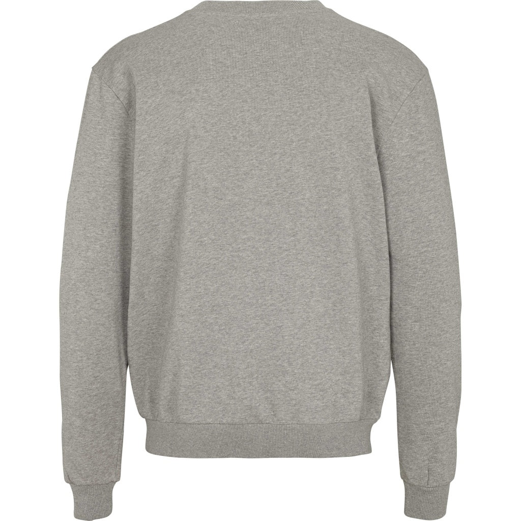 Bruuns Bazaar Men Roger Hugo crew neck sweat Sweatshirt Light grey mel