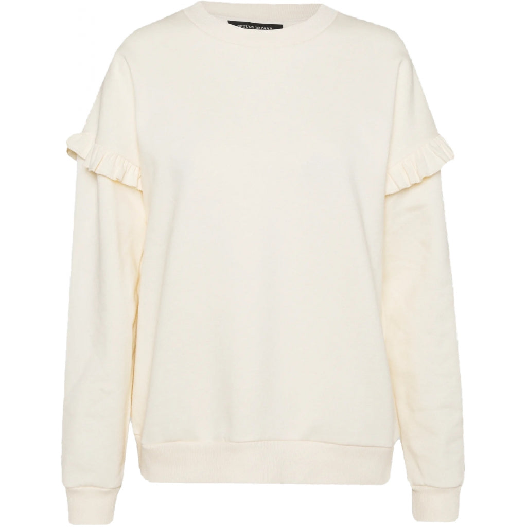 Bruuns Bazaar Women Rubine Riea Two Sweat Sweatshirt White Cream