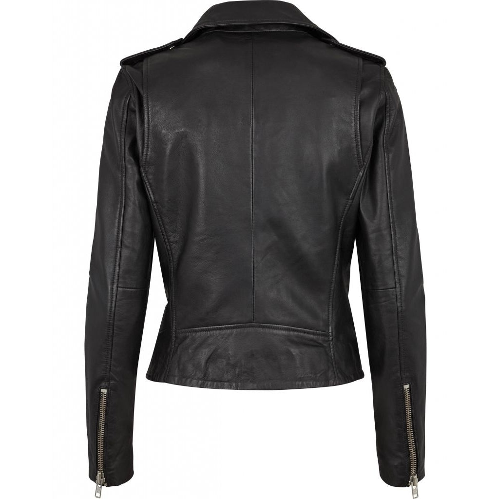 Bruuns Bazaar Women Vanessa Leather Jacket Outerwear Black