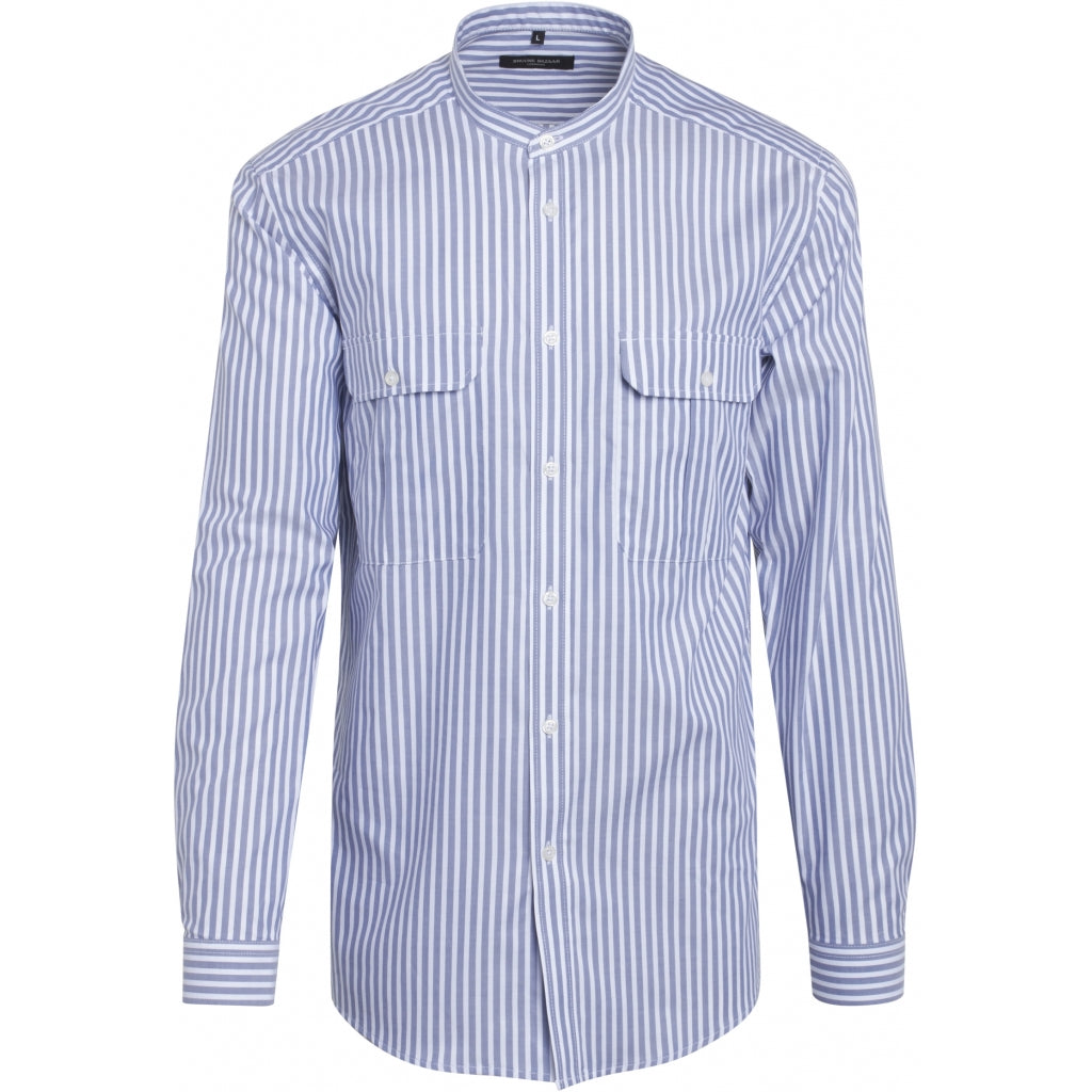 Bruuns Bazaar Men China stripe shirt Shirts Blue/White stripe
