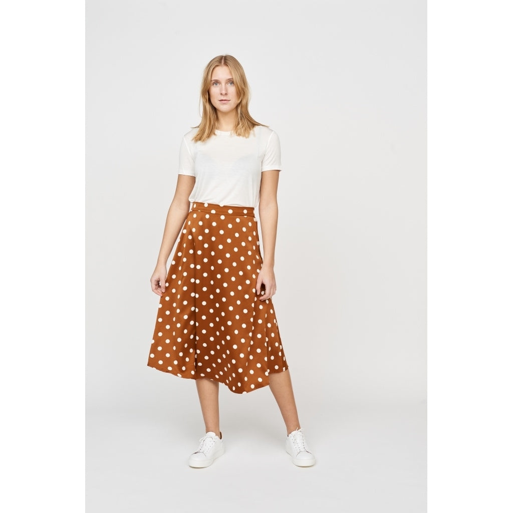 Bruuns Bazaar Women Dothea Naomi Skirt Skirt Copper/white dots