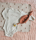 Oh Hey organic long sleeve bodysuit by tenth & pine