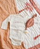Lush Linen Oversized Swaddle in Peach