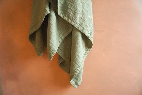 Sage Oversized Muslin Cotton Swaddle