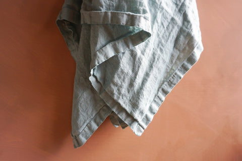 Lush Linen Oversized Swaddle in Mist