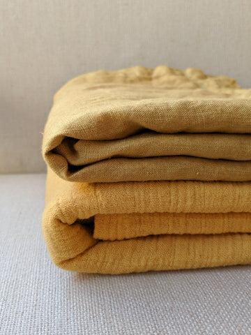 Gold Oversized Muslin Cotton Swaddle