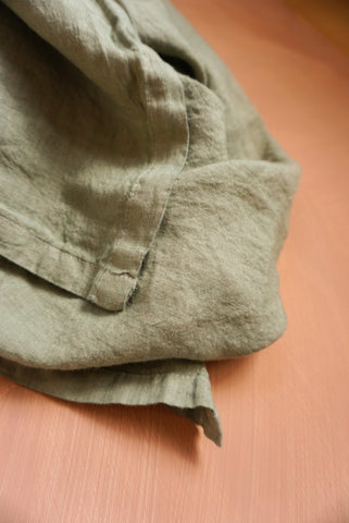 Lush Linen Oversized Swaddle in Sage