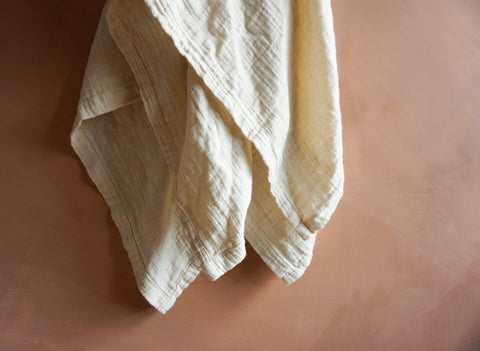 Oatmeal Oversized Muslin Cotton Swaddle