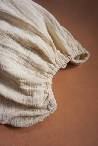 Oatmeal Muslin Cotton Fitted Cot Sheet
