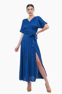 Wrap maxi cocktail dress