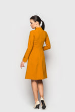 Mustard Fit & flare Cocktail Dress