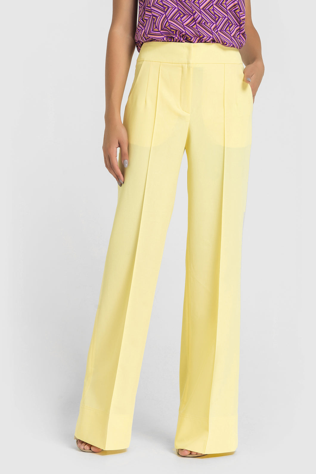 Yellow Wide leg Palazzo Pants