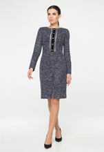 Blue wool boucle dress