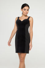Load image into Gallery viewer, Black cocktail velvet dress