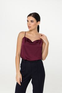 Halter Satin Sleeveless Top