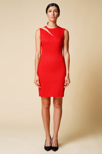 Red cutout mini dress women