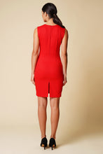 Load image into Gallery viewer, Red cutout mini dress women