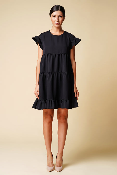 Black mini frilly dress