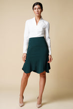 Load image into Gallery viewer, Green godet midi skirt