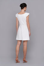 Asymmetrical white cocktail dress