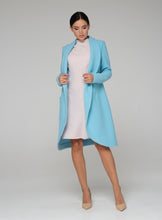Load image into Gallery viewer, Sky blue boiled wool cardigan women