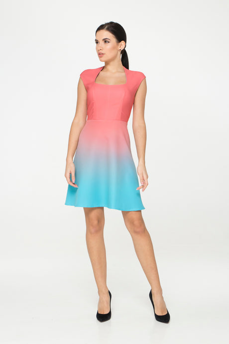 Gradient Fit and flare Dress